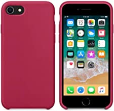 Case for iPhone 11 Pro Max XS MAX XR X Cases for Apple iPhone 7 8 6 6S Plus Logo Case with Retail Box,Rose red,for i6plus(i6SPlus)