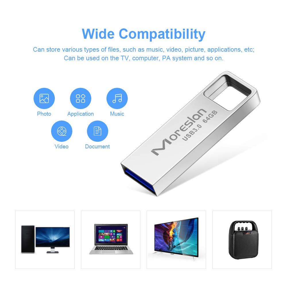 Pendrive 64GB Chiavetta USB 3.0 Unità Flash Drive con Portachiavi Data Traveler Portatile in Metal Pennetta USB Impermeabile Memoria Stick USB per PC/Laptop/Smart TV/Autoradio: Amazon.es: Electrónica