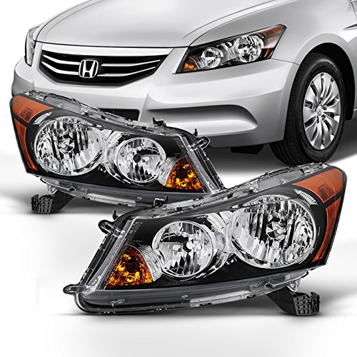 For 2008 2009 2010 2011 2012 4-Door Sedan Honda Accord Driver & Passenger Side Headlights Headlamps