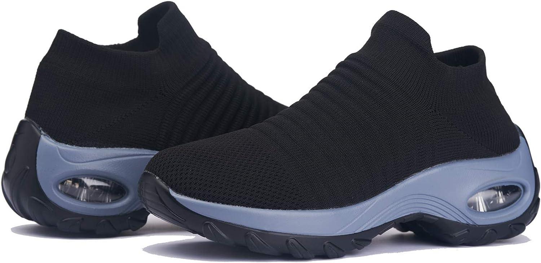 Muleug Women's 内祝い Walking Shoes 期間限定送料無料 Sock Breatha Slip Sneakers -Mesh on