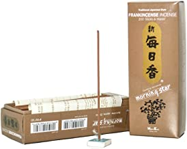 Morning Star Japanese Incense Sticks 200 Sticks & Holder (Frankincense)