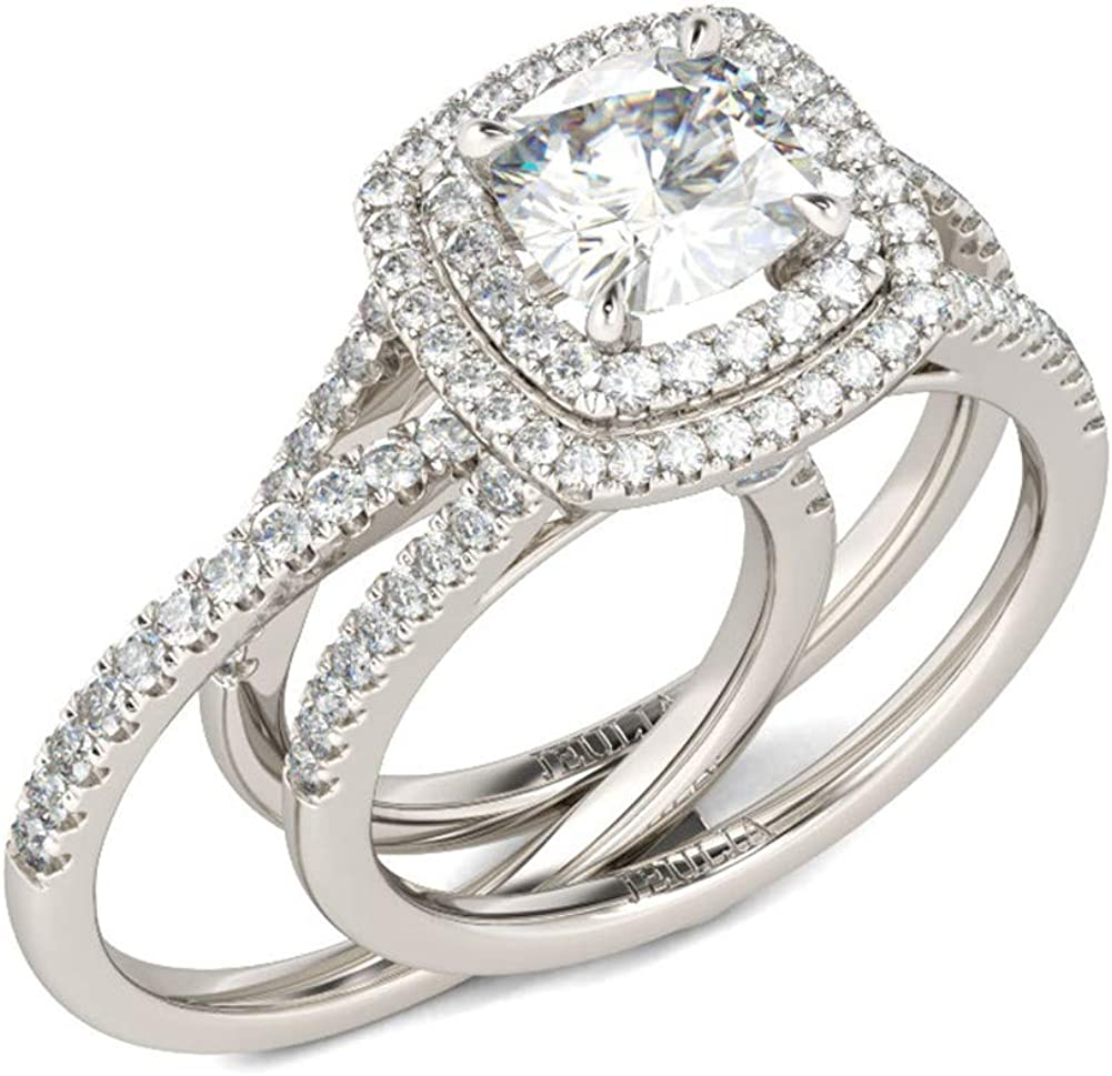 Jeulia Brilliant Classic Band Rings for Sterling 925 In stock Sets Women Popular brand