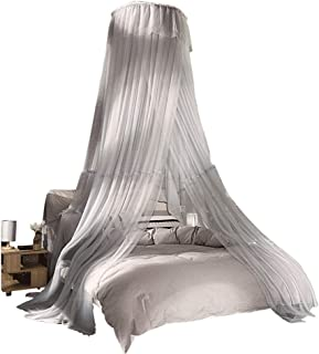 Lyj Dome Bed Canopy Netting Princess Mosquito Net, Bed Canopy Round,Bed Canopy for Kid's Reading Room,Nursery Decorations,Bedroom Decoration (Color : Gray, Size : 1.8m (6 ft) Bed)