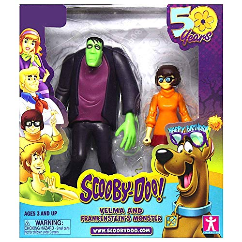 Scooby-Doo! 50th Anniversary Twin Figure Pack Exclusive - Velma and Frankenstein's Monster