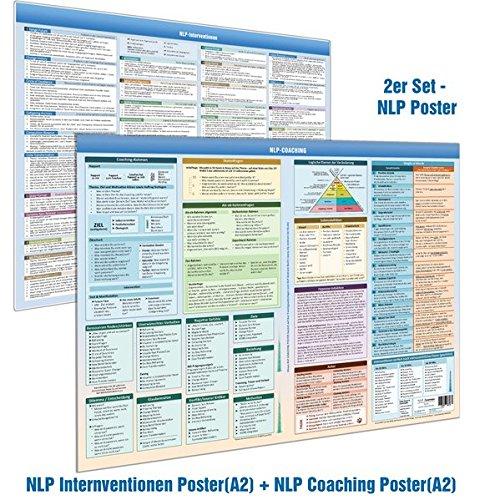 [2er-Set] NLP COACHING POSTER(DINA2) & NLP INTERVENTIONEN POSTER (DINA2) - Schritt-für-Schritt Kurzanleitungen von 33 NLP Interventionen sowie diverse ... NLP Coach, NLP Practitioner und NLP Master