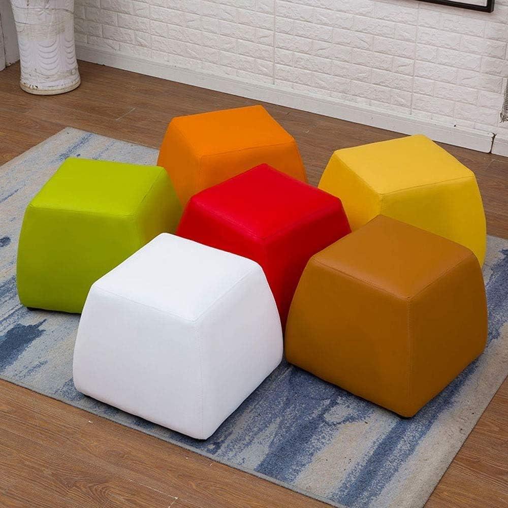 Tabouret de bar Multi-foncti Canapé Banc Fitting Petite Chambre cuir Tabouret Accueil Salon adulte Banc de chaussures chaise haute YZJL (Color : Mustard Green) Red