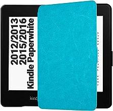 EasyAcc Custodia per Kindle Paperwhite - con Sonno/Sveglia la Funzione Compatibile con Kindle Paperwhite 2012/2013/ 2015, Blu (Non è Compatibile con la Versione 2018 di Kindle Paperwhite)