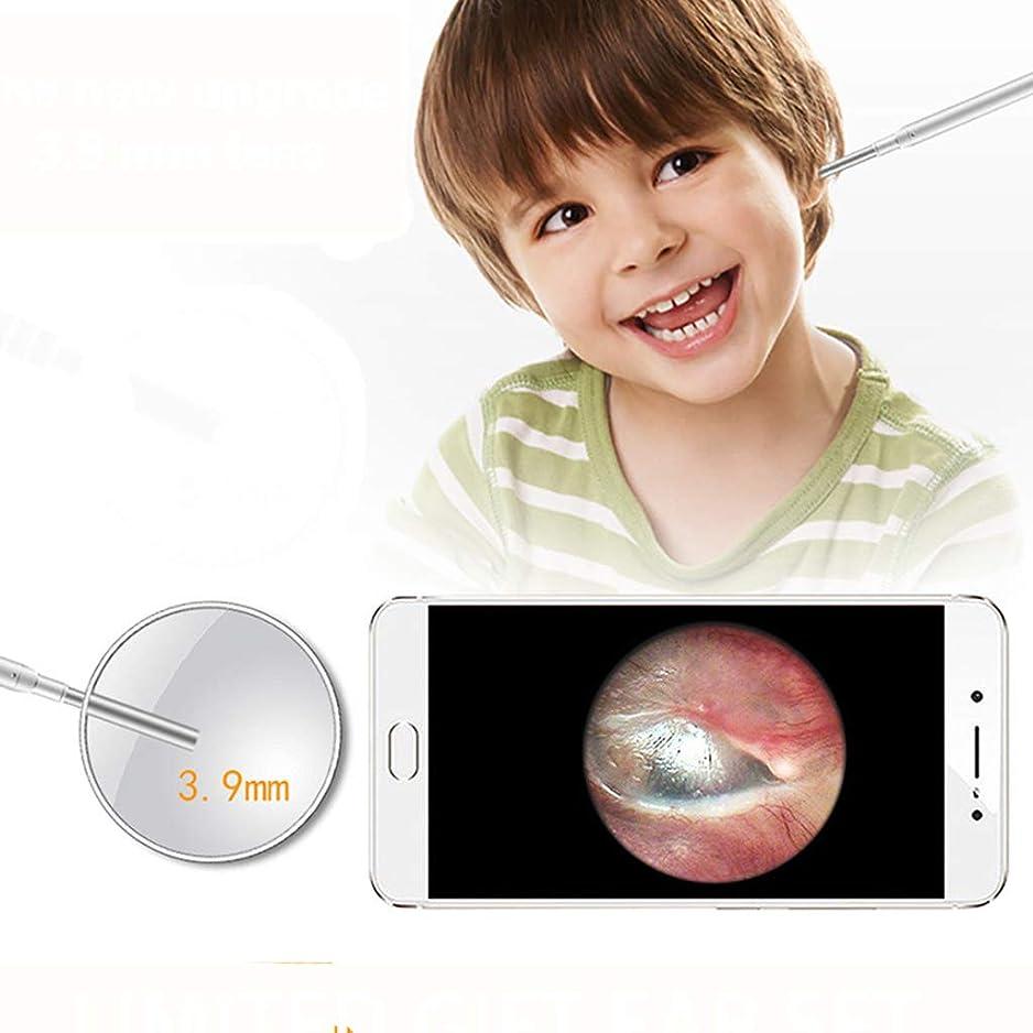 味わう乱れ評判ワイヤレスOtoscopeオーラルケア内視鏡耳掃除検査カメラIP67は、Android、iPad、IOS、PC用の6つのLedを備えた1.0MP HDボアスコープを防水します