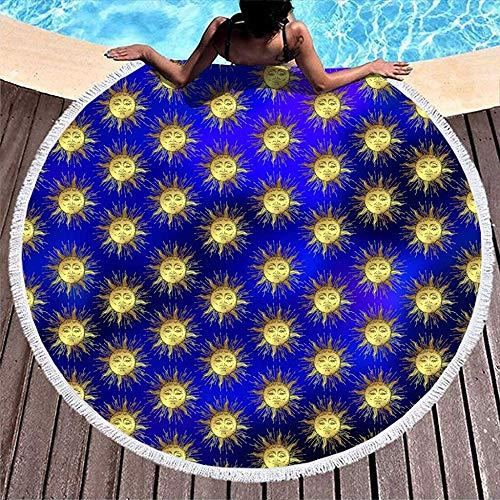 Duanrest lichte deken om op te hangen aan de muur met kwasten, zonne-patroon, wikkelrok, sneldrogend, yoga matr zon.