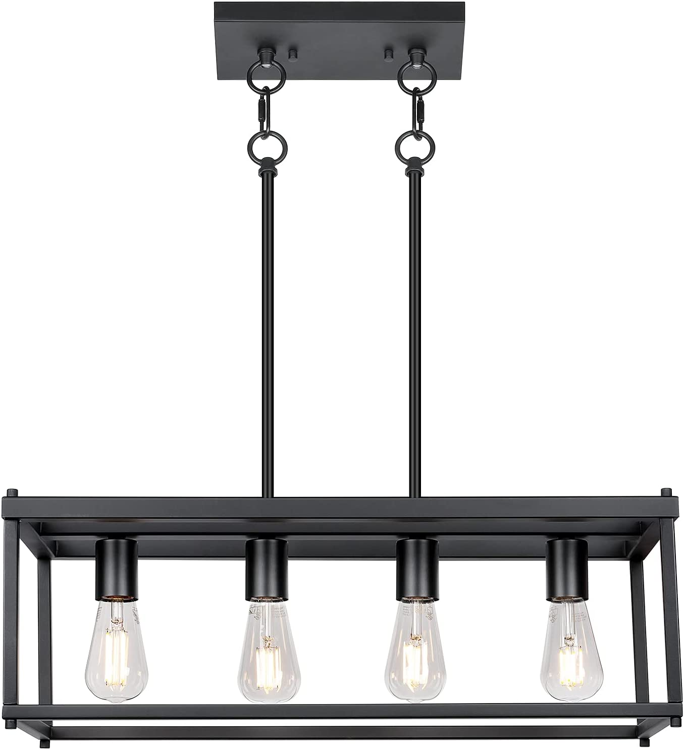4-Light Island Lights Easy-to-use Industrial Dining Complete Free Shipping Fixture Lighting Room