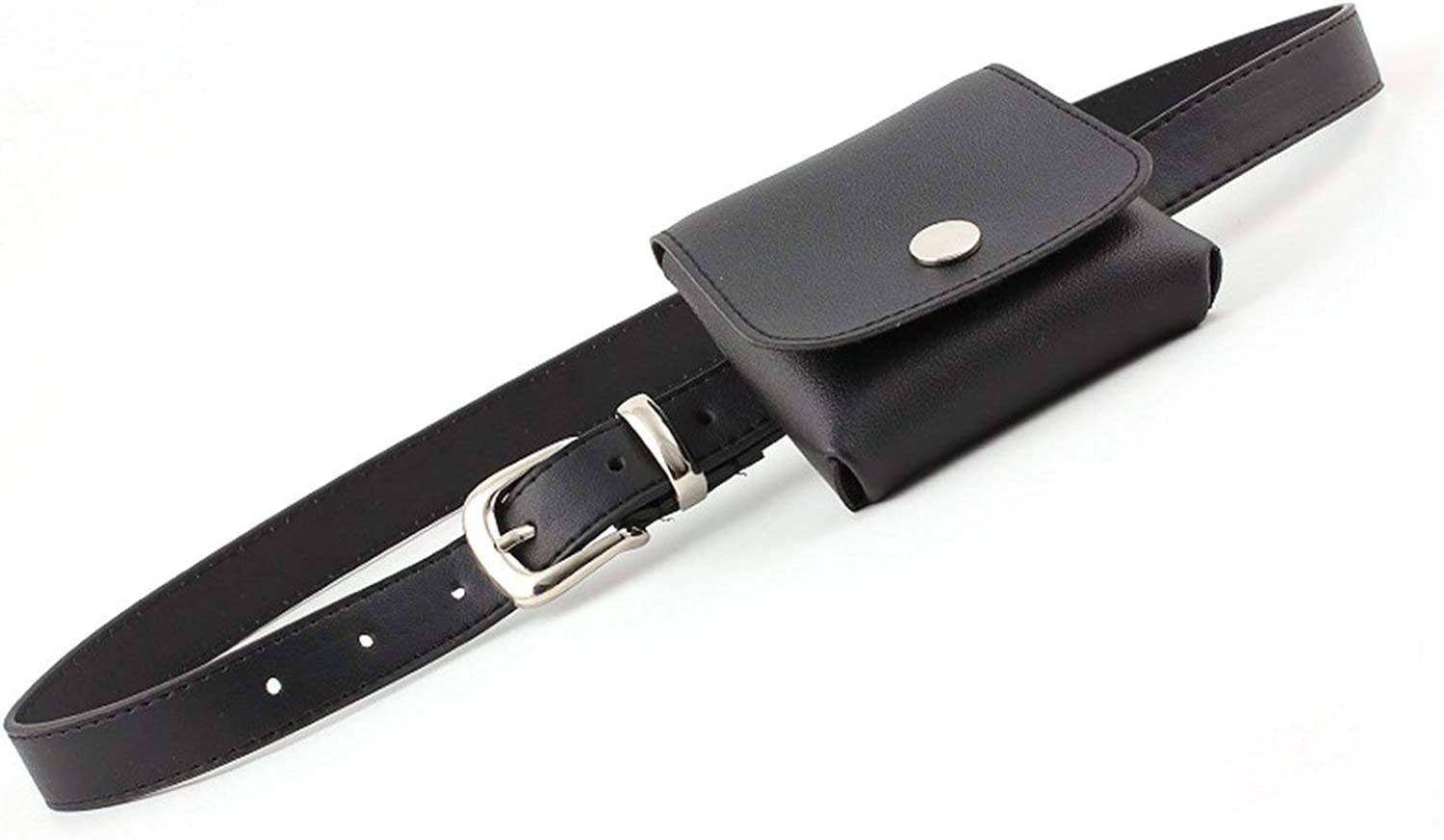 Ladeis Red Yellow Black White Pink Wide Leather Waist Bag Belts for Wo,Black,