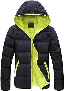 XLDD Mens Padded Jacket Hooded Padded Mens Ski Jacket Waterproof Breathable Winter Coat Lightweight Warm Hooded Puffer Jac...
