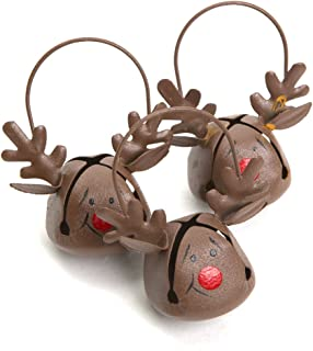 Reindeer Jingle Bell Ornaments 12 Pack