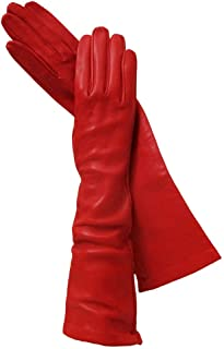 long leather gloves sale