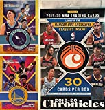 2019 - 20 Panini Chronicles NBA Basketball Factory Sealed 30 Card HANGER Box with (4) HOLO and OPTI-CHROME Cards! Look for RC & Autos of ZION WILLIAMSON! Includes Custom Novelty LaMELO BALL and JAMES WISEMAN Rookie Cards!