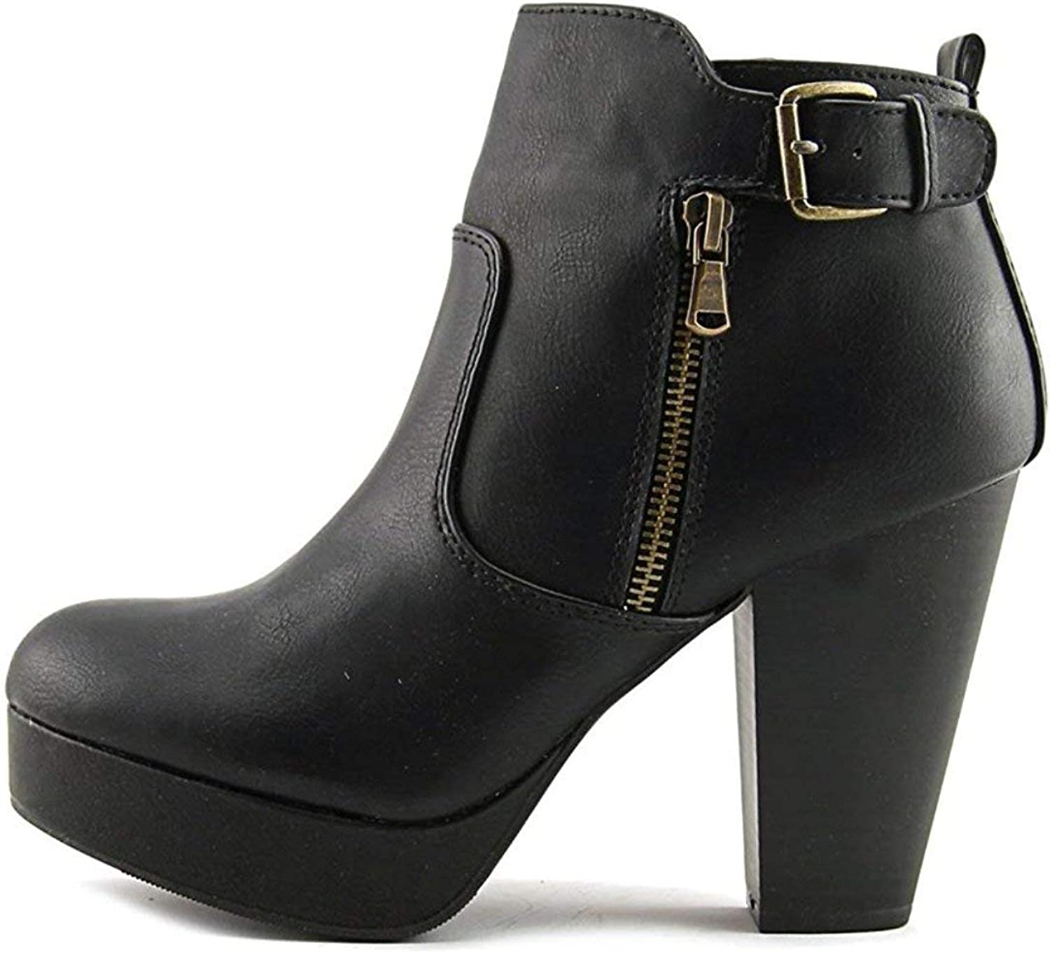 Material Girl Womens Raelyn Closed Toe Ankle Fashion Boots