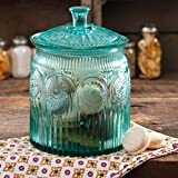 The Pioneer Woman Adeline Glass Cookie Jar - Turquoise