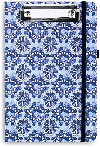 Vera Bradley Blue Mini Clipboard Folio with Refillable 9 x6 Lined Notepad Interior Pocket and product image