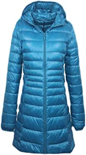 Macondoo Women Puffer Hooded Plus Size Outwear Packable Winter Down Coat Jacket