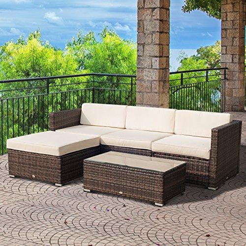 122x77x75 cm Ecr/ù My garden Set Zanzibar Sofa