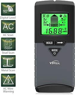 Stud Finder with Digital Level, 5 in 1 Wood Stud Finder Wall Scanner with Sound Warning, Digital LCD Display, Stud Finder, Magnetic Stud Finder and Center Stud Finder