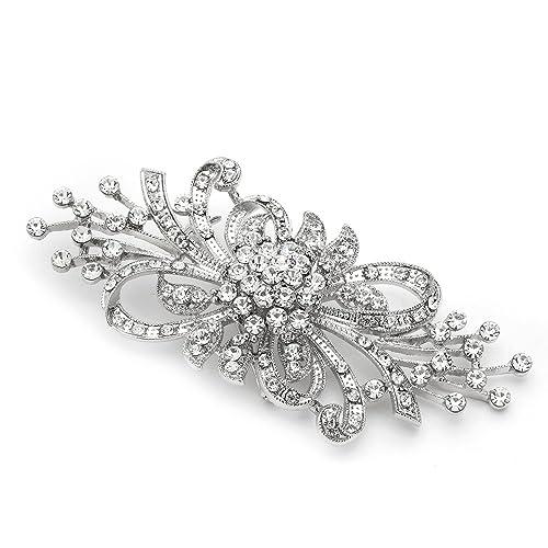 685ebfa11c2 Mariell Vintage Spray Bridal Crystal Brooch Pin - Top Selling Antique  Silver Rhinestone Fashion Brooch