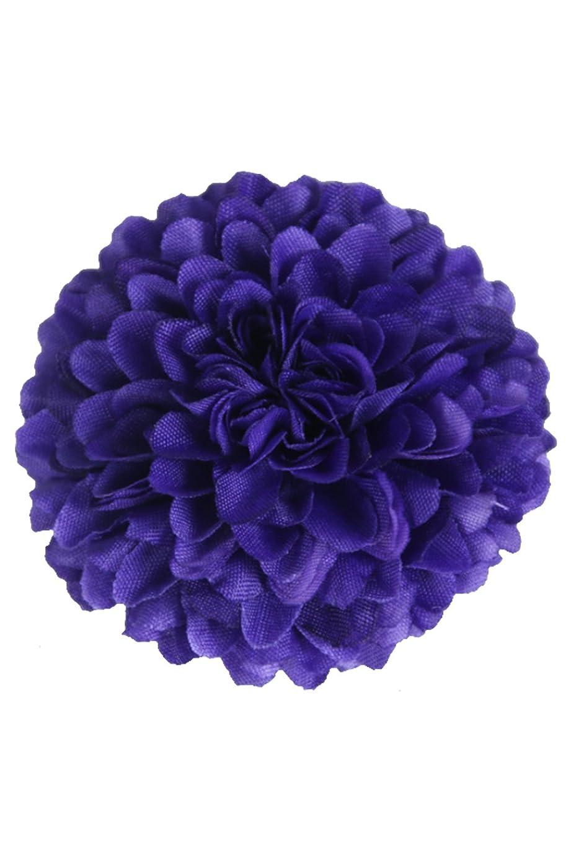 光の会う脳Lumierechat ピンポンマム 菊 造花 シルクフラワー 花 部分のみ DIY 直径 4.5㎝ 結婚式 手芸 ハンドメイド 20個 セット a-8466(20個セット/パープル)