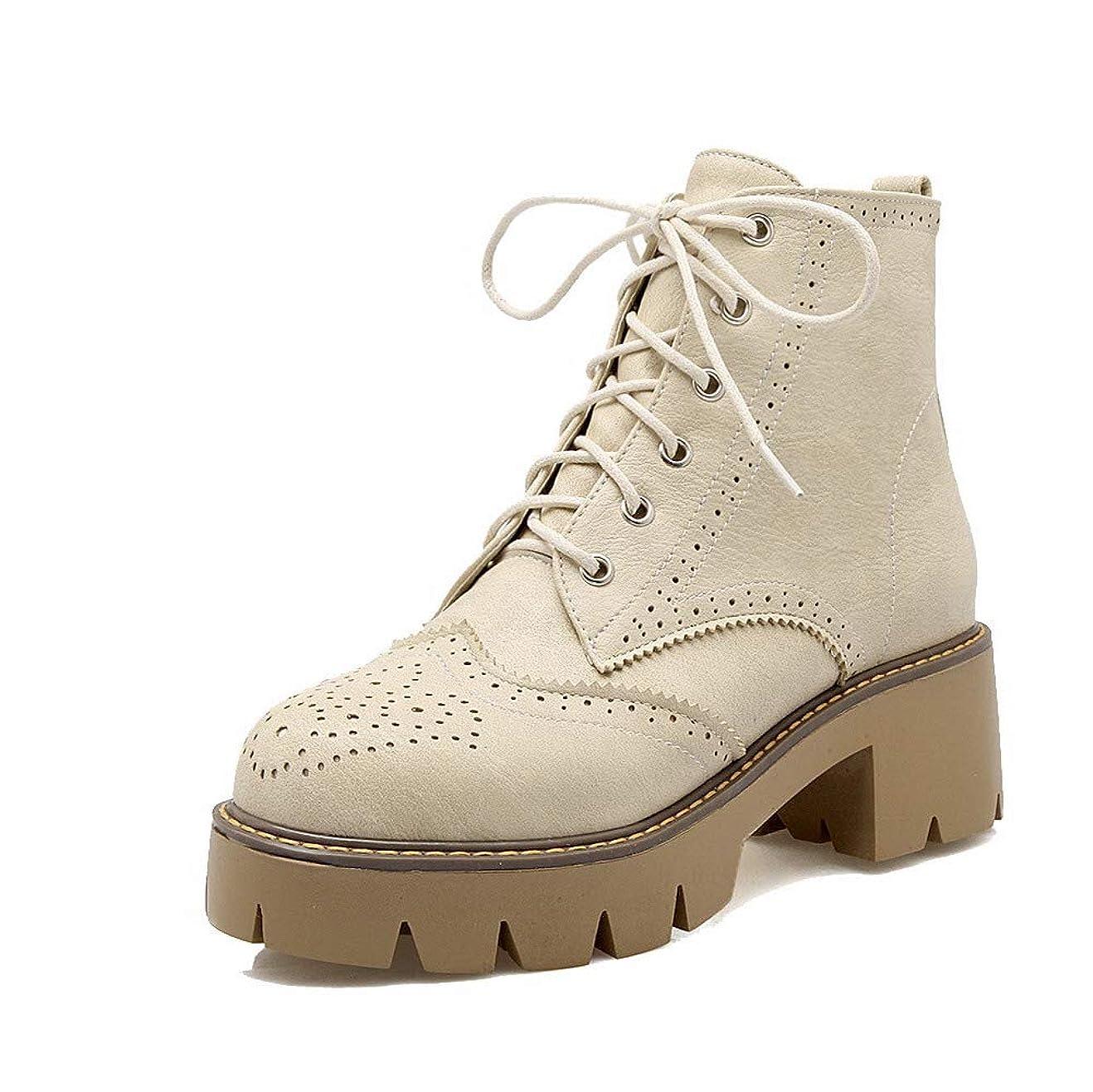 ブラシガイダンス良心(ヴォーグゾーン009) VogueZone009 レディース ラウンドトゥ 中ヒール PUの皮 ブーティー 純色 ブーツ CCAXP117265