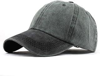 Gorra de béisbol de algodón Hombre Mujer de Estilo Vintage Ajustable Color sólido Hip-Hop Unisex Marca Vintage para Deportes al Aire Libre Deporte Hats Verano para Hombre Mujer