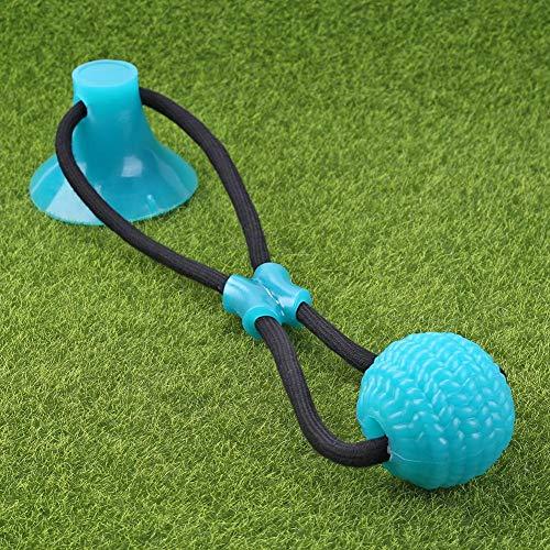 Juguete para mascotas, pelota de goma autojugar, con ventosa, juguete para perros masticar, juguete multifunción, limpieza de dientes, no tóxico, seguro, suave, de caucho natural