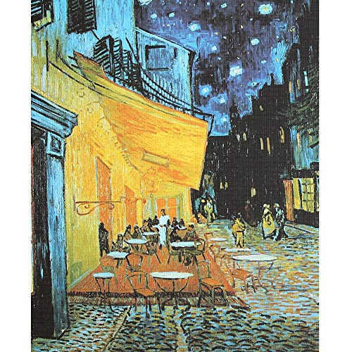 Moruska Cafe Terrace at Night by Vincent Van Gogh Jigsaw Puzzle 1000 Piece Art