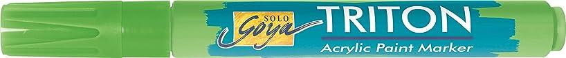 Kreul 17822?(Solo Goya Triton 1-4?mm Chisel Tip Acrylic Paint Marker?–?Yellow Green