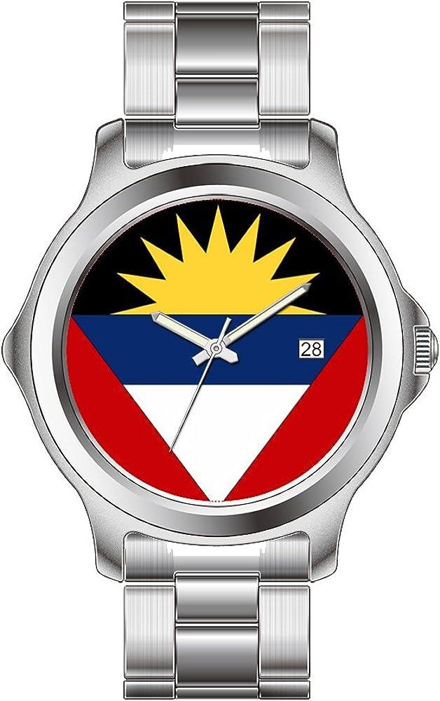 FDC–Navidad Regalo Relojes Fashion Fecha Acero Inoxidable Reloj de Pulsera de Cuarzo japonés de la Mujer Antigua y Barbuda Relojes