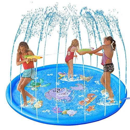 Brastoy Splash Pad Sprinkler Esteira 170cm Piscina Inflável Infantil