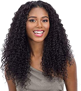 Vogeen 360 Lace Frontal 100% Human Hair Wigs Deep Wave 150% Density Pre Plucked Natural Hairline for Black Woman Unprocessed Brazilian Curly Virgin Hair Lace Front Wig Natural Color