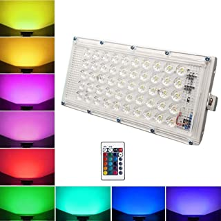 CITRA Metal White Body Crystal 60 Watt 220-240V Waterproof Landscape IP66 LED Flood Light RGB Multi Colour with Remote