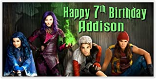 Descendants Birthday Banner Personalized Party Backdrop Decoration