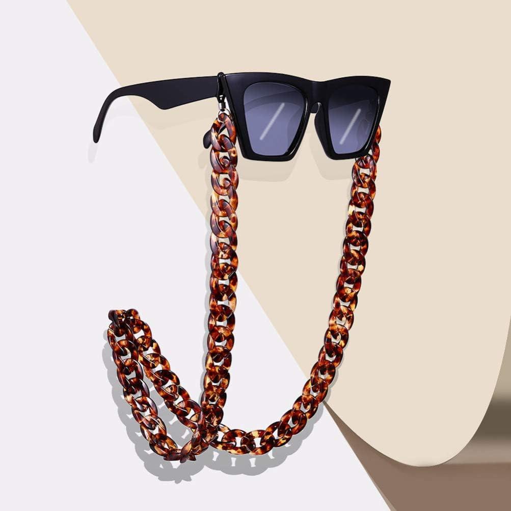 BESTOYARD Acrylic Eyeglass Chain Sunglasses Holder Designer Trendy Fashion Eyewear Retainer Strap Necklace Glasses Hanging for Women Men