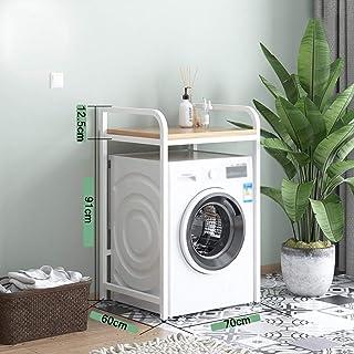 HJJ Support de Machine à Laver Étagère de Toilette à étagères au-Dessus de la Machine à Laver à Tambour, étagère de Machin...