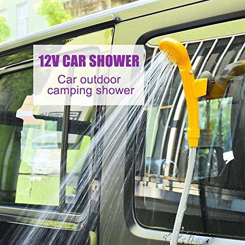 GOTOTOP 12V Portátil Kit de Ducha Montado en El Vehículo para Cámping Viaje