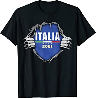 Italie Football Drapeau national italien 2021 T-Shirt
