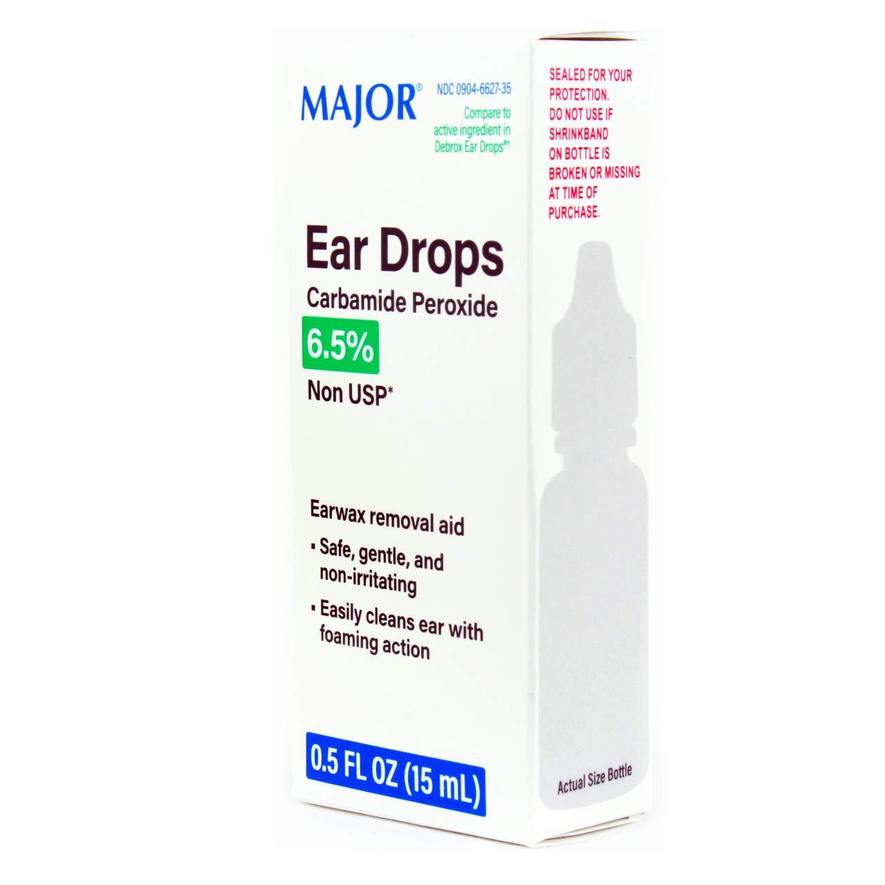 MAJOR Ear Drops Earwax Removal Aid 0.5oz 15mL CARBAMIDE PEROXIDE