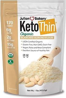 Julian Bakery Keto Thin Organic Blanched Almond Flour (1 lb)(Low Carb)(Gluten-Free)(Grain-Free)(16 Servings)