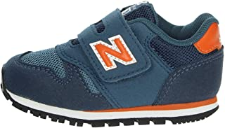 New Balance 373 Stone Blue/Vintage Orange Suede Baby Trainers Shoes