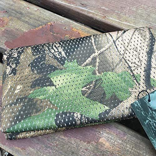 Starry Sky Unisex visnet mesh tactische camouflage sjaal outdoor sport camping wandelen bandana nek warmer braga (kleur: Tree Leaf)