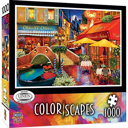 MasterPieces Colorscapes Linen Jigsaw Puzzle, It's Amore! Romantic Evening in Italy, 1000 Pieces