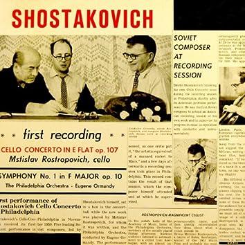 Shostakovich Concerto For Cello & Orchestra