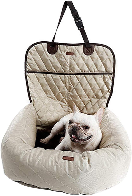 FeiyanfyQ Multifunctional Nonslip Pet Dog Car Seat Mattress Thickened Predector Cushion Mat  Beige