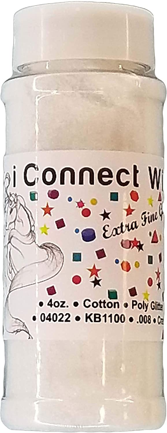 Mail order iConnectWith Glitter trend rank – Cotton White Fine Extra G Polyester
