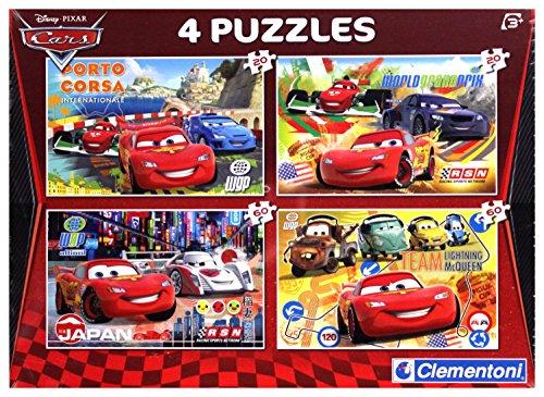 Clementoni 7602 Cars - Puzzle múltiple, 2 x 20 Piezas y 2 x 60 Piezas 7602